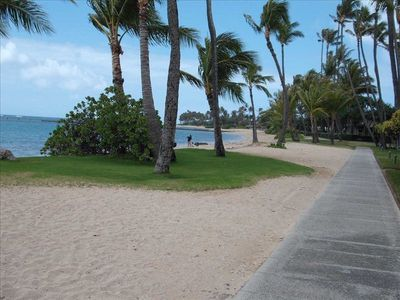 BEAUTIFUL KAHALA BEACH WITH DIRECT ACCESS FROM SWIMMING POOL AREA