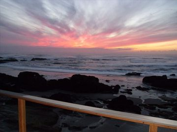 Seal Rock house rental - Sunset from Upper Deck