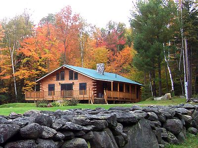 Gorgeous Fall Foliage, Log Home New Hampshire