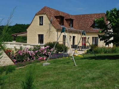 Domme Black Perigord Villa 10 per. WIFI heated pool linen housekeeping included