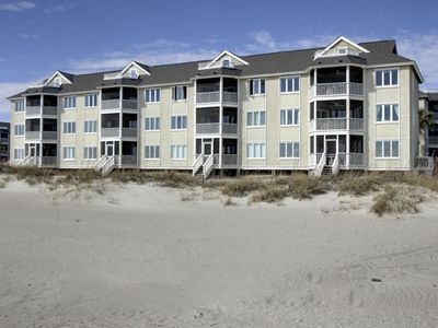 View of the condo from the beach