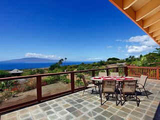 Lahaina house photo - Built for outdoor living, expansive ocean and sunset views for dining outside.