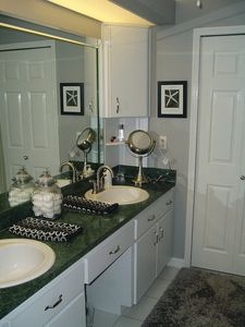 Master bathroom - walk in shower and tub-