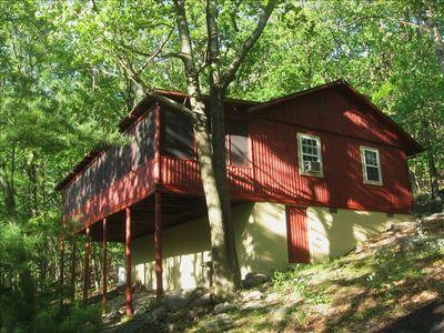 Harpers Ferry cabin rental - winter view of Shenandoah valley/river