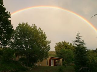 Venasque estate photo - Beautiful rainbow over the house