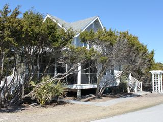 Bald Head Island house photo - Screened in Porch with hammock lower level