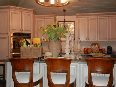Kitchen Island adjoining family room