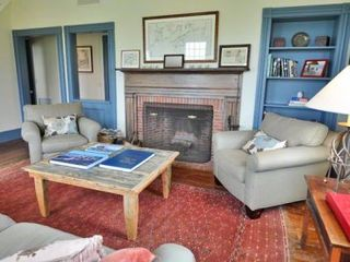 Edgartown house photo - Living Room View Toward Fireplace
