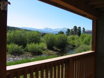 Gorgeous Mountain Views from the deck, located steps from the Fraser River