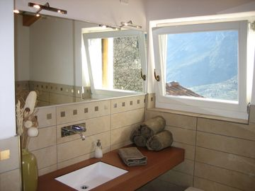 Master Bathroom with Views-includes a seperate shower and oversized bathtub.