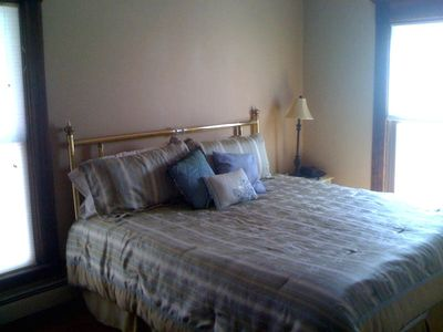 2nd flr Master suite has King bed with triple dresser, closet and crib.