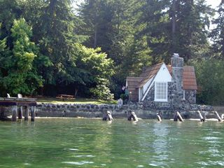 Port Orchard cottage photo - View of cottage from the dock.