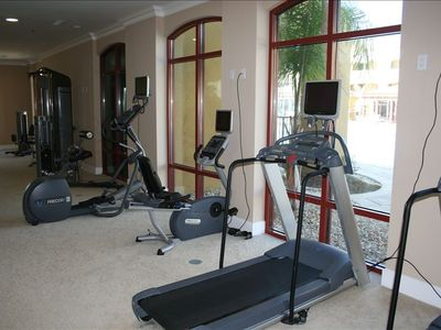 Fitness Center In Clubhouse Overlooking Pool Area For Your Use!