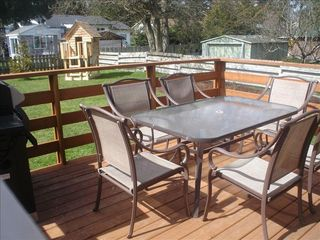 Parksville house photo - Your children will enjoy the large fenced backyard