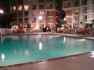 Aguadilla condo photo - Evening by the pool