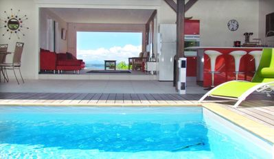 'Ladilafé' house with private pool and sea view landscaped park