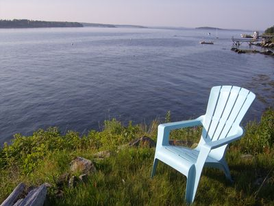 ahhhh Maine, relax, grab a book, grab a drink...so nice.