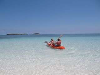 Spanish Wells villa photo - Kayaking from Conch Shell Beach Villa, Spanish Wells to Pierre Rocks.