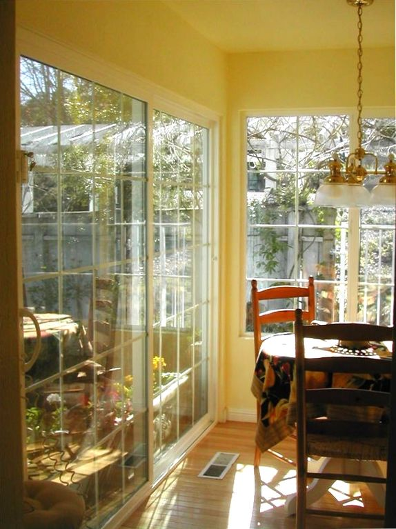 Breakfast Nook and glimpse of courtyard