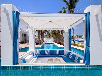 Dawn Beach villa rental - Sunken Gazebo seats 10