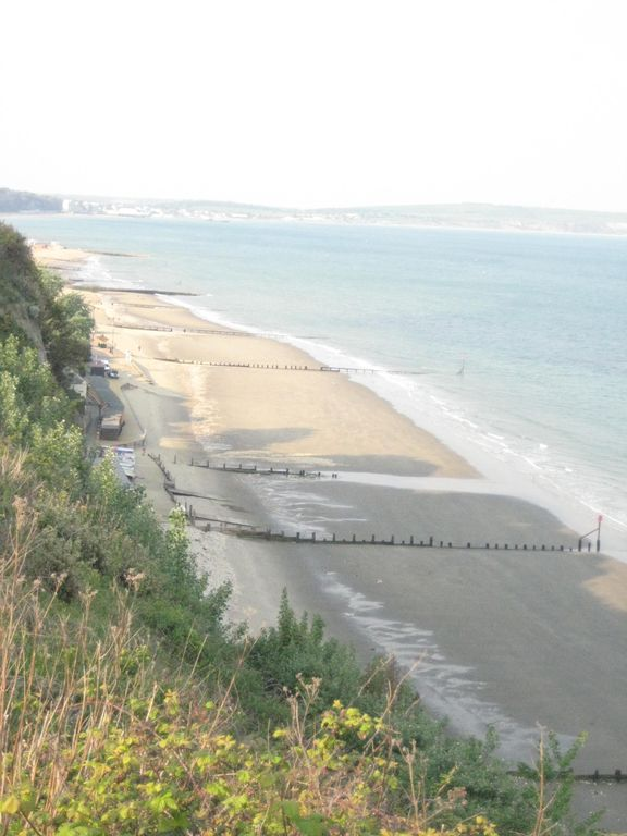 Looking down on Shanklin beach