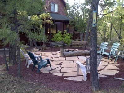 Backyard patio & firepit