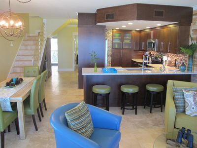 Open living, kitchen & dining. Entry flows through. Ocean views everywhere.