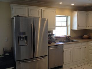 Naples house photo - double fridge with triple-filtered drinking water and crushed or cubed ice