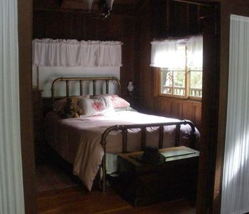 Queen Bedroom  Opens to LR and Wood  Burning Stove