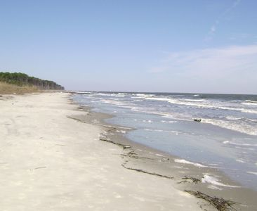 Hunting Island State Park  Beach at very high tide Miles of natural beaches