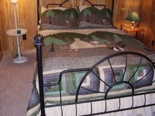 Maggie Valley cabin photo - Downstairs Deer Room with queen bed