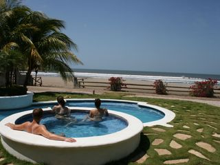 Pochomil house photo - Relax at the Whirlpool, swim in the pool or surf in the ocean