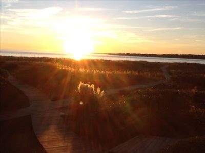 You will love watching the sunset from the deck of 1351 Pelican Watch!