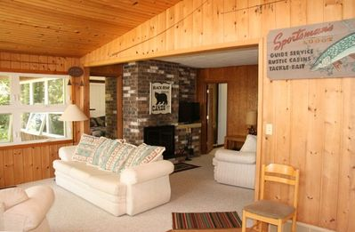Living Room and Family Room Area of Cottage