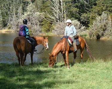 Mount Lyford chalet rental - Horse trekking to mystical Lake Crystal