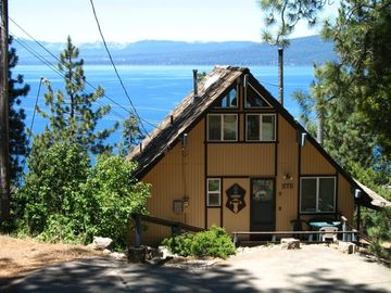 Brockway chalet rental - Exterior of Sunset Chalet overlooking Lake Tahoe