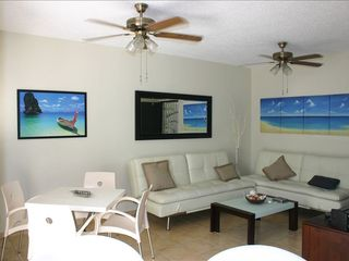 Rincon apartment photo - Living room and entertainment area with 2 full size futons.