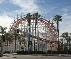 Mission Beach house photo - Historic Giant Dipper and amusement park only a five-minute stroll.