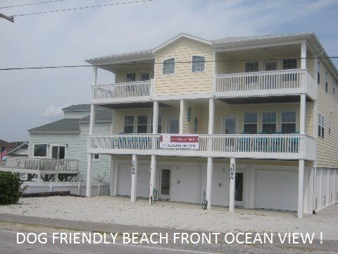 Brand New Dog Friendly, Beach Front -Ocean View, Rental W/ Private Beach Access