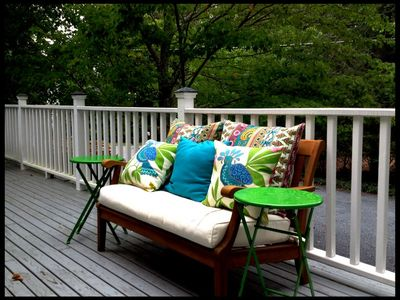 Bright and Magical Outdoor Seating on the Back Porch.