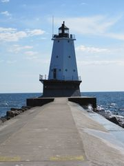 Ludington house photo - Lighthouse walk, 3 blocks from house (1/2 mile long pier)