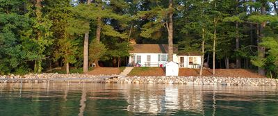 The cottage looking out on Torch Lake