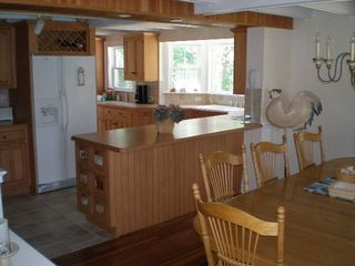 Falmouth house photo - Kitchen area with dining in forefront