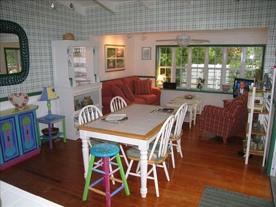 Kitchen Dining Area & Sunroom