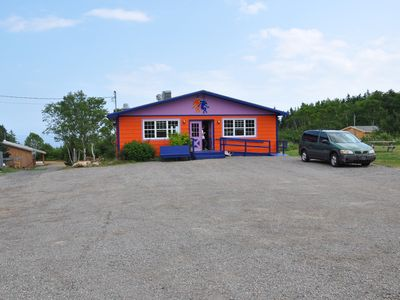 Out front is the Dancing Moose Cafe, serving breakfast & lunch