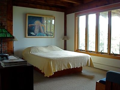 Truro house rental - Queen bedroom with water view