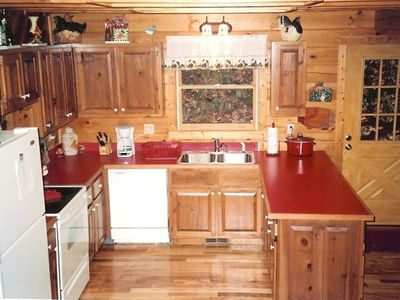 A country kitchen with all new conveniences (main floor).