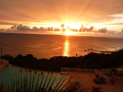 Breathtaking Sunset View from our Spacious Balcony