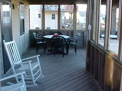 ENJOY OUR ROCKERS AND OTHER DECK FURNITURE ON EACH DECK