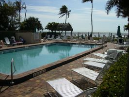Seaside large pool on the beach (paver patio deck)